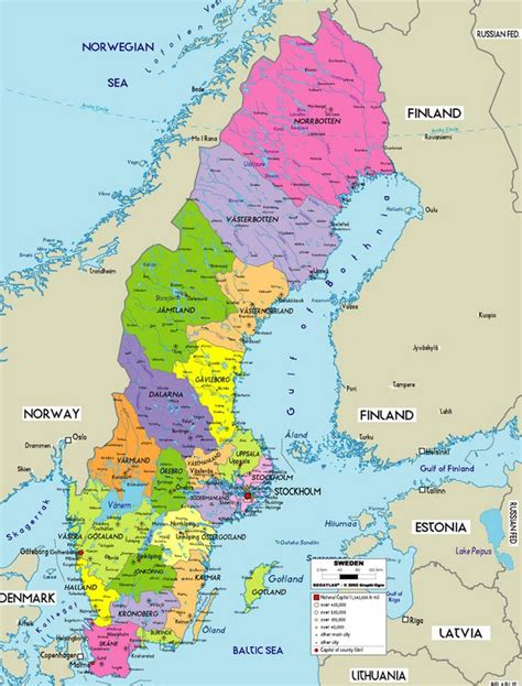 Search Sweden Political Map Of Sweden Family History Search Sweden And Uppsala