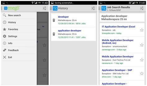 Search Employment History Find On The Go With Renego Android App