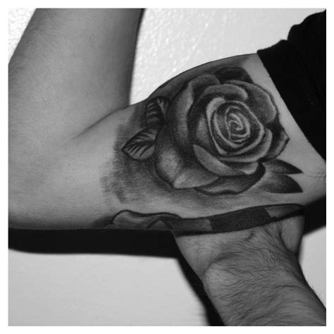 black and white rose tattoos design idea for men and women