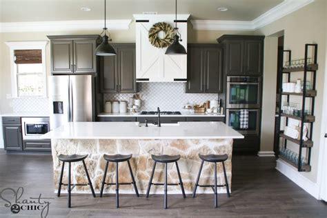 modern farmhouse kitchen diy barn door vent hood easy vent hood modification to