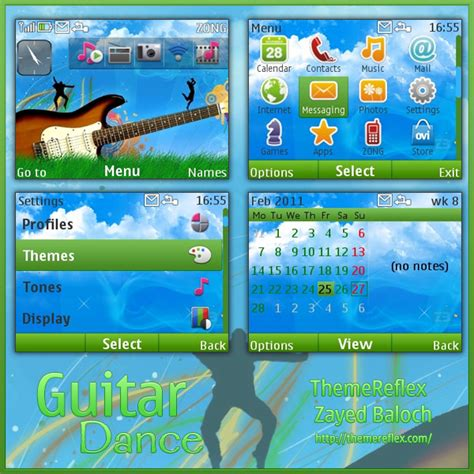 nokia c3 themes rasta guitar dance theme for nokia c3 x2 01 themereflex