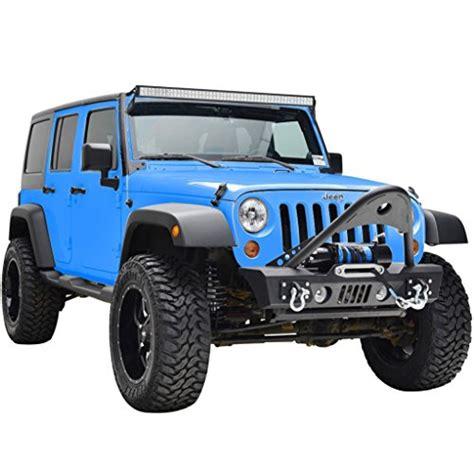 Jeep Jk Stinger Jeep Wrangler Jk Black Textured Front Bumper With Stinger