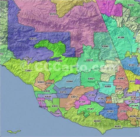 thousand oaks zip code map zip code map ventura county zip code map
