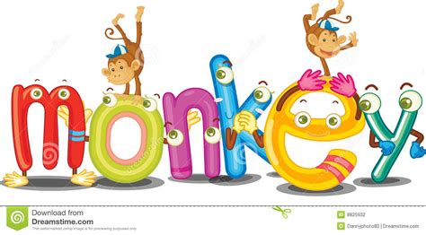 5 Letter Words Made From Monkey the word monkey stock photography image 8825932