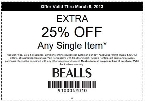 Bealls Outlet Printable Coupons 2014 | bealls coupons bealls printable coupons 2014 tattoo