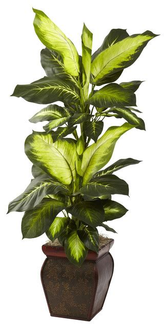 decorative indoor plants nearly natural 45 inch golden dieffenbachia decorative