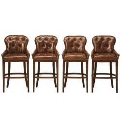 amazing set of 4 vintage french casino tufted leather bar stools at 1stdibs