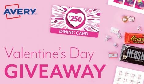 Valentines Giveaway 2017 - enter avery valentine s day contest
