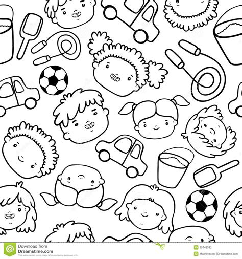kid doodle vector free doodle faces pattern stock vector image of design
