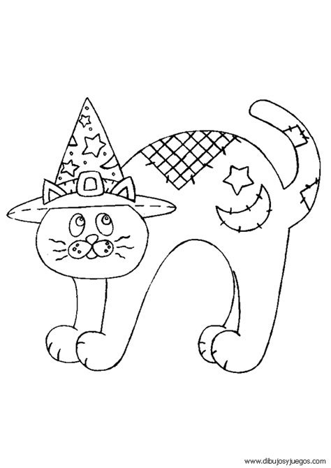 imagenes halloween para pintar dibujo de halloween gato 024 dibujos y juegos para