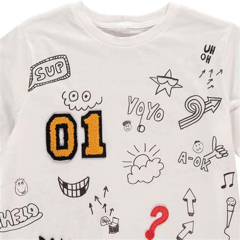 T Shirt The Dinosaurs Arlo Spot arlo patches t shirt white stella mccartney fashion