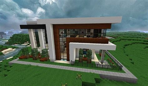 Modern Home Design Minecraft | modern house with style minecraft build 3 minecraft