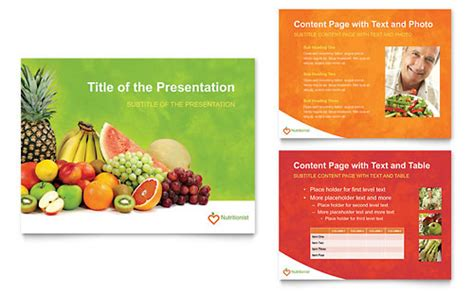 templates powerpoint nutrition diet nutrition graphic designs templates