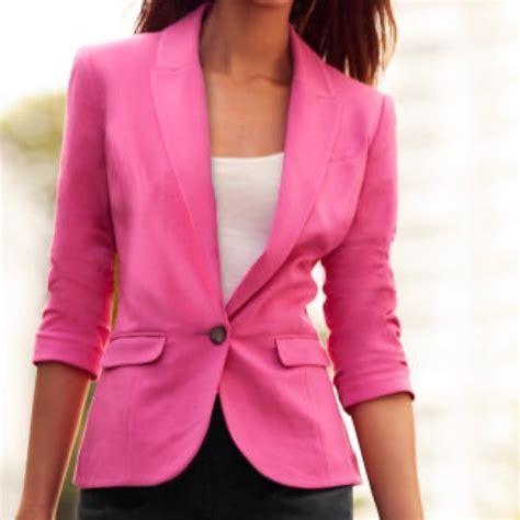 M Blazer 69 h m jackets blazers h m jersey blazer jacket coat size 8 pink from stella s