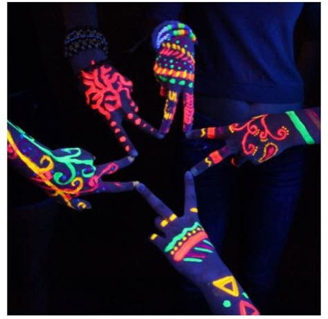 stick on henna tattoos glow stick henna tattoos or highlighter around black