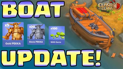 clash of clans boat videos clash of clans update sneak peeks skipped boat fixed by