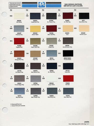 nissan color codes 1986 nissan color codes explore pintopower s photos on