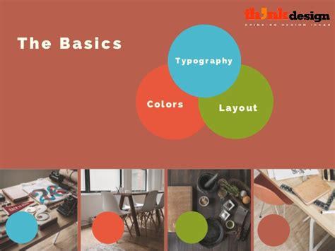 basics of graphic design layout the basics typography colors layout