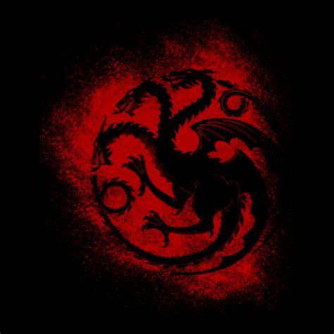 House Targaryen house targaryen sigil splatter of thrones t shirts
