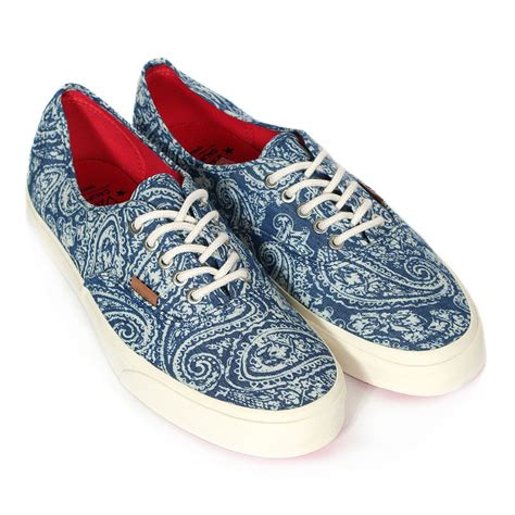 Vans California Blue Canvas vans unisex california authentic ca paisley canvas lace up