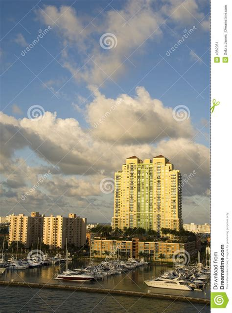 florida boat title search marina with boats in miami florida stock image