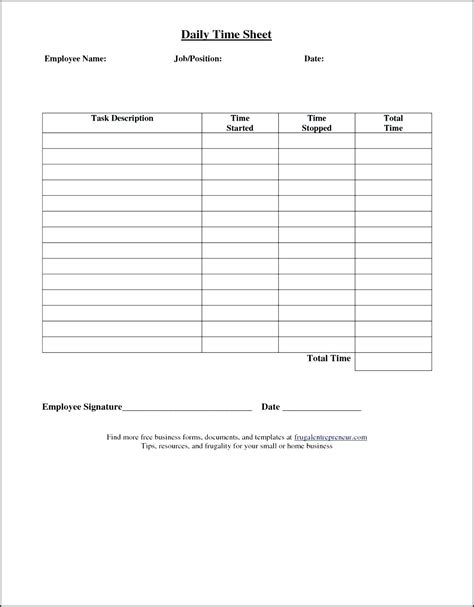 Simple Time Card Template Sheets by Simple Time Sheets To Print Weekly Timesheet Template