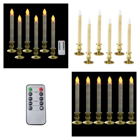 christmas window candles remote battery operated candles with remote decorations lights