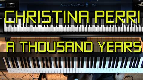 tutorial keyboard a thousand years piano tutorial how to play a thousand years by christina