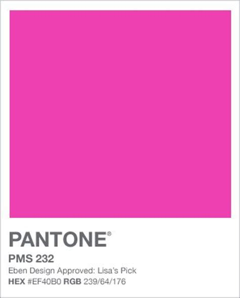 pink pantone pms 232 fuchsia red pinterest pantone color hot