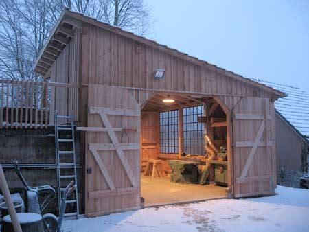 werkstatt verkleiden fachwerk schuppen garage werkstatt mit gartenlaube