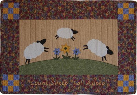 pattern for wall quilt hanger count sheep quilt wall hanging pattern
