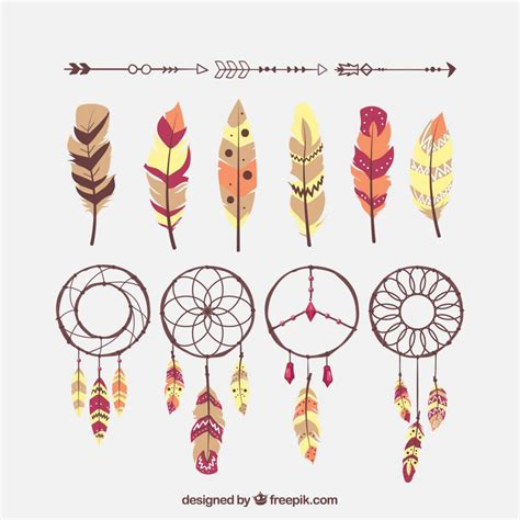 dreamcatcher feathers boho chic feather dreamcatcher free eps vector download