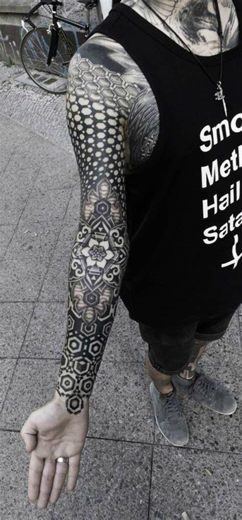 full arm tattoo designs black white amazing arm black mandala best design