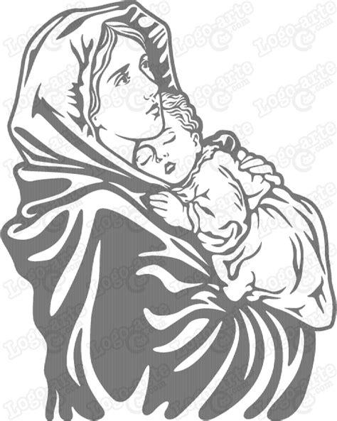 imagenes religiosas vectores arte vectorial de la virgen mar 237 a y el ni 241 o jes 250 s para