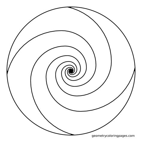 spiral mandala coloring pages mandala coloring page golden ratio spiral adult
