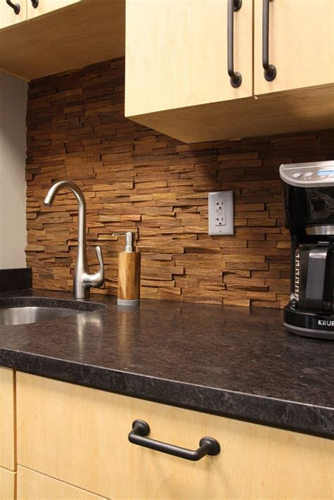 wood backsplash kitchen wood backsplash for the home pinterest