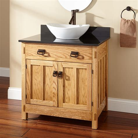 Vanity For Vessel Sinks by 30 Quot Mission Hardwood Vessel Sink Vanity Bathroom