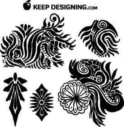 free vector clip graphics tribal floral vectors vector free
