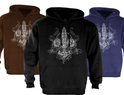 tribal design hoodie fleur de lis hoodie abstract tribal design new cool ebay