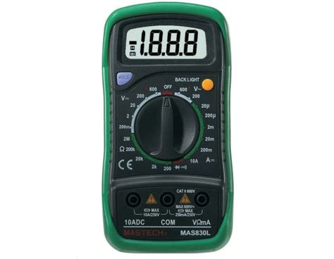 Multimeter Digital Mastech buy digital multimeter mastech vartech m830l in india fab to lab