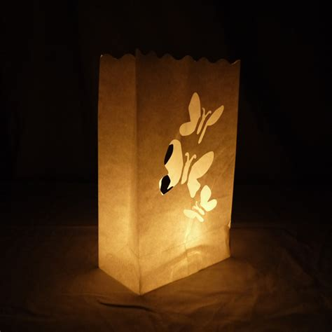patterns for paper bag luminaries butterflies luminarias paper craft bag 10 pack fire