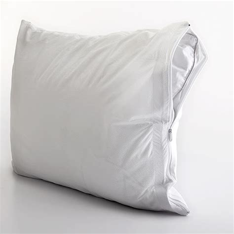 bed bug pillow protector all in one pillow protector with bed bug blocker boscov s