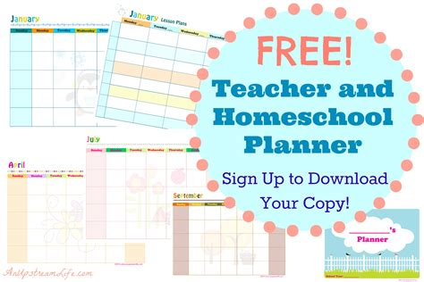 homeschool lesson planner app free teacher and homeschool planner subscriber freebie
