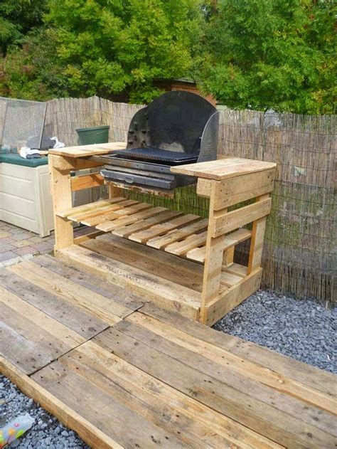 how to build a backyard grill how to make an outdoor kitchen upcycled pallet outdoor grill total survival