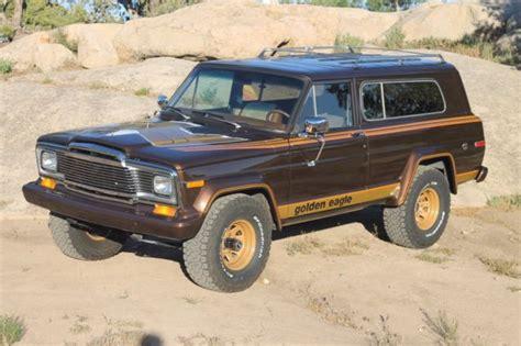 jeep cherokee golden eagle 1979 jeep cherokee golden eagle vortec swap restored