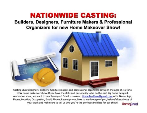 Home Design Show Casting by New Home Renovation Show Casting Builders Amp Designers