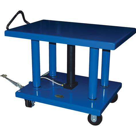 vestil manual hydraulic post table northern tool equipment