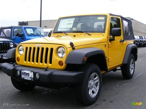jeep yellow jeep wrangler sport 4x4