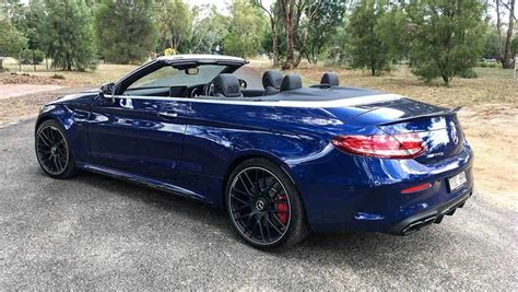 mercedes c63 amg blue mercedes amg c63 s cabriolet 2017 review carsguide