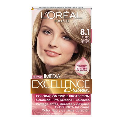 l or 233 al excellence cr 233 me permanent hair color 8g medium golden color de tinte loreal 7 tinte para cabello l or 233 al im 233 dia excellence creme 8